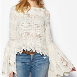 NWT Free People Bell Sleeve One a Upon a Time top